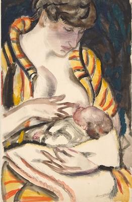 Greet met kind aan de borst - Jan Sluijters