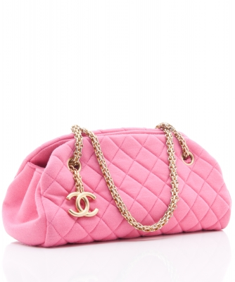 Chanel Pink Jersey 'Mademoiselle' Bag - Chanel