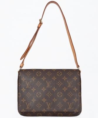 Louis Vuitton Bruin Monogram Musette Tango Schoudertas - Louis Vuitton