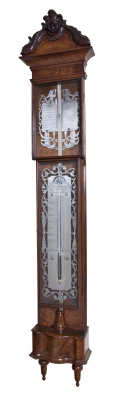 A Dutch walnut barometer signed J. Molten Amsterdam