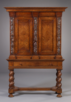 Dutch Louis XIV Cabinet on Stand