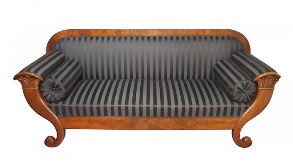 A Dutch mahogany sofa