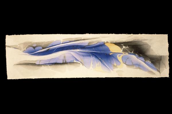 EP06,  Ryosaku Kotaka Suminagashi painting on washi paper