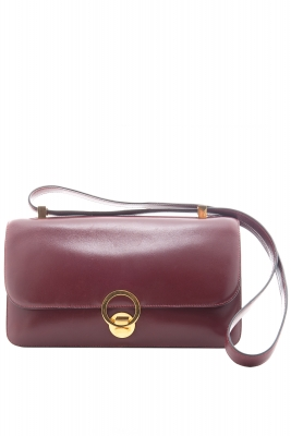 Hermès Burgundy Leather 'Ring Bag' - Hermès
