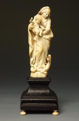 Madonna en Kind die de draak verslaat