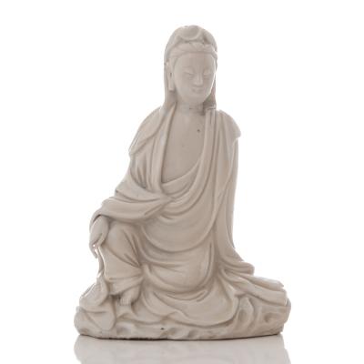Chinese 'Blanc de Chine' seated Guanyin