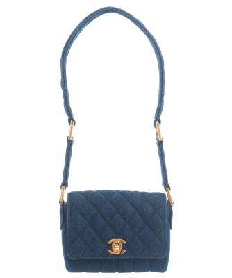 Chanel Denim Quilted Mini Flap Bag  - Chanel