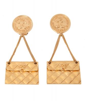 Chanel Handbag Clip On Earrings - Chanel