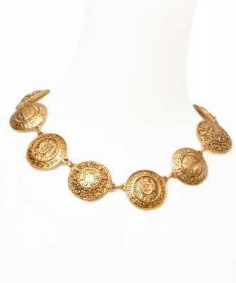 Chanel Medallion Necklace with Clip On Earrings - Chanel