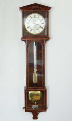 Elegante weense regulateur- laterndluhr, 'Ph.Happacher in Wien', 1 maand, circa 1820.