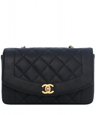 Chanel Flap Bag in Black Matelasse Caviar Leather - Chanel