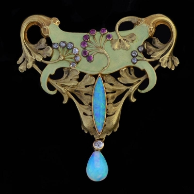 Art Nouveau Broche-Hanger