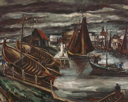 Spakenburg Harbor - Adriaan Lubbers