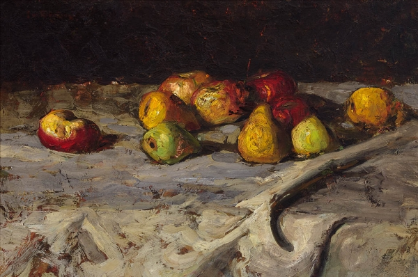 Still life with apples and pears - Suze Robertson