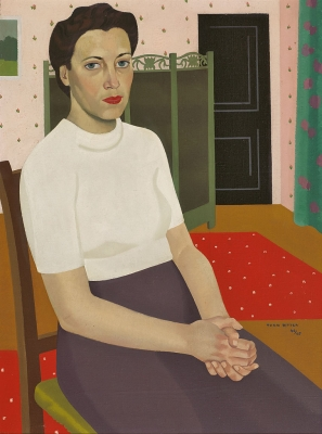 Vrouw in interieur - Theo Bitter