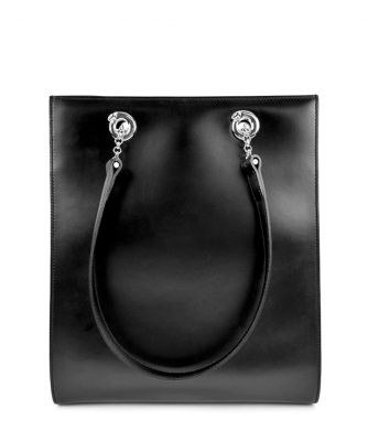 Cartier Black Leather Panther Tote - Cartier