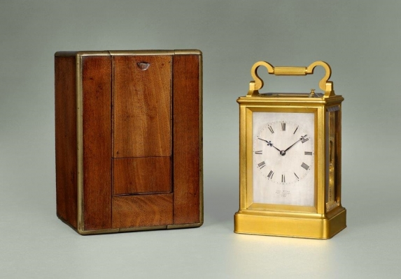 A fine English carriage clock by James McCabe, London, no 3354, ca. 1850.