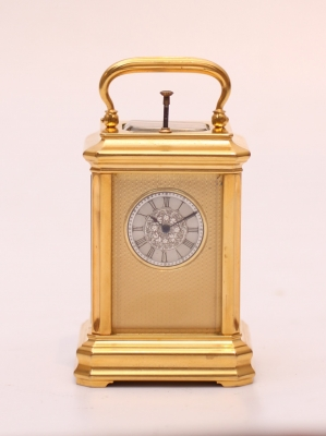 A small Swiss carriage timepiece with repetition, circa 1860