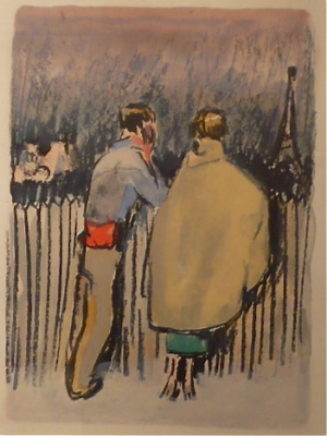 Au Beaux Temps de la Butte, written by Roland Dorgelès. 20 Colourlithographs by Kees van Dongen.