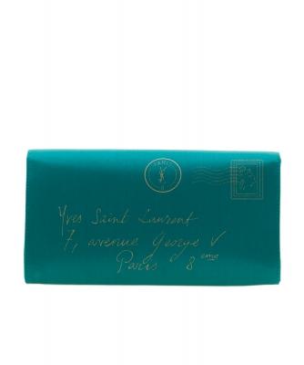 Yves Saint Laurent Y-mail Envelope Clutch in Satin - Yves Saint Laurent