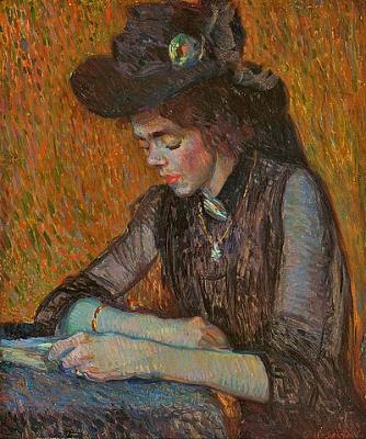 Girl reading - Leendert (Leo) Gestel