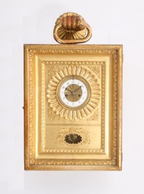 A parcel gilt Vienna wall clock, circa 1820
