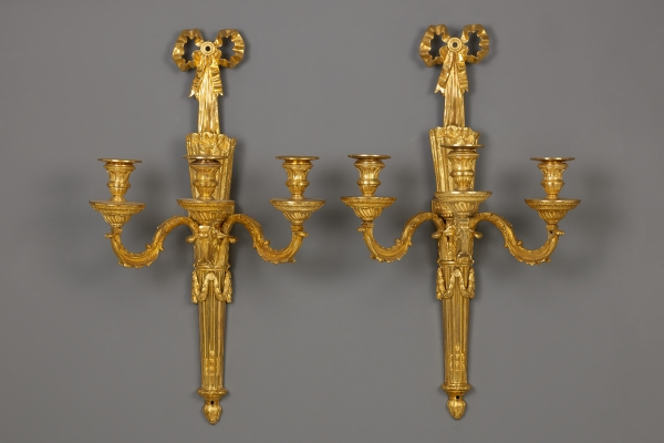 Pair of French Louis XVI Wall Sconces