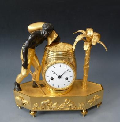Directoire 'Au Bon Sauvage' pendule, ormolu and patinated bronze, Paris circa. 1790.