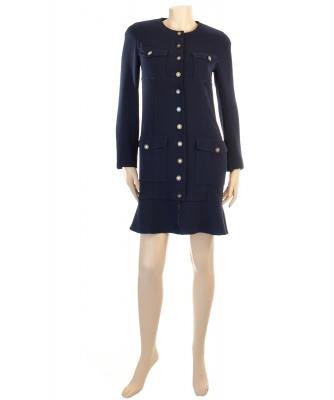 Chanel Blue Robe Manteau - Chanel