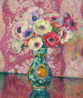 Bouquet with anemones - Théo van Rysselberghe