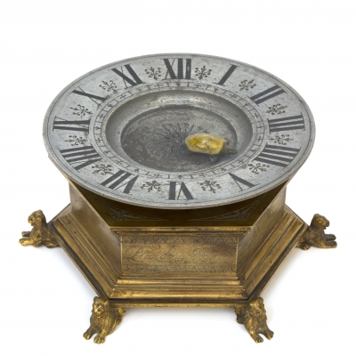 A lovely French renaissance-style mystery timepiece, Planchon, circa 1880