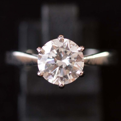 1.64 ct diamond engament ring