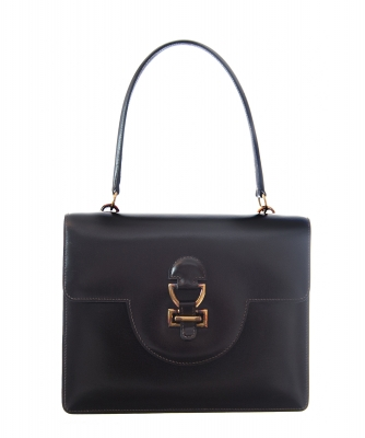 Hermès 'Sandrine' Brown Boxcalf Leather Shoulder Bag - Hermès