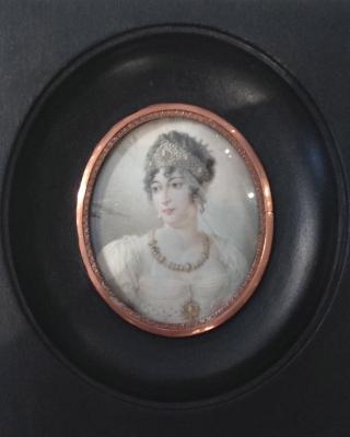 Portrait miniature of Caroline Bonaparte