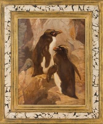 Painting of Two Pinguins Cornelis Jan Mension