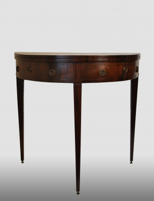 Dutch mahogany Louis Seise card table with green felt . Made about 1800.