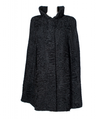 By Rademakers Black Astrakhan Fur Cape - By Rademakers