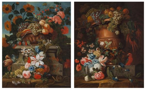 Pair of Flower Still lifes