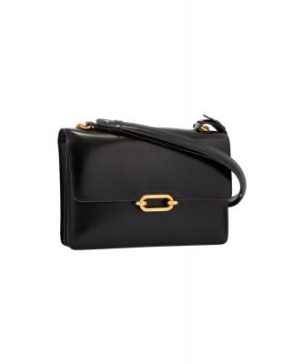 Hermès Fonsbelle Black Leather Shoulder Bag - Hermès