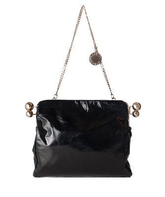 Stella McCartney Schoudertas/Clutch in Zwart Faux Leer