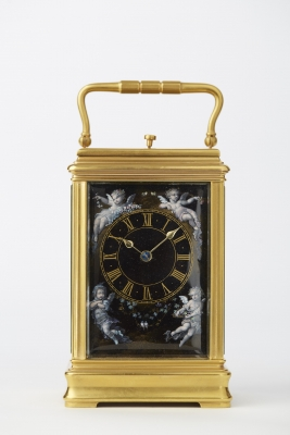 Hour-Repeating Carriage French Clock with Half Hour and Hour Self Strike