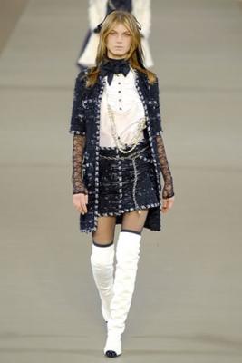 Chanel White Ruffle Blouse