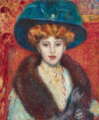 Woman with blue hat - Georges Lemmen