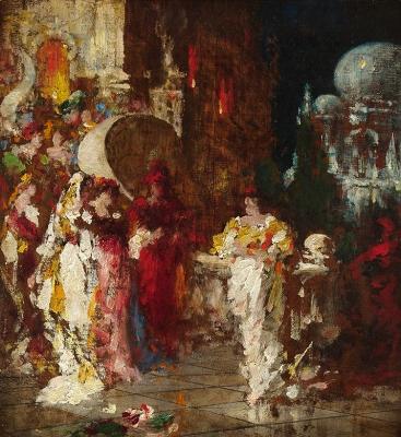 Venetian Nights, or Carnival - Adolphe Joseph Thomas Monticelli