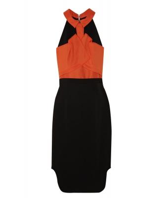 Roland Mouret Dalefield Techno Crepe Dress