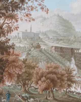Waterfalls at the villa Mecenate at Tivoli