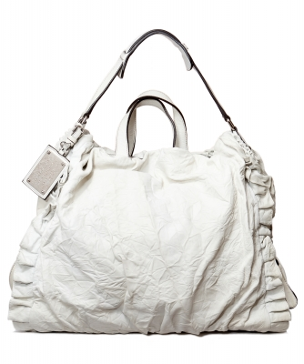 Dolce & Gabbana Miss Rouche Hobo in Wit Leder