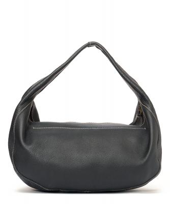 Miu Miu Black Pebbled Leather Hobo - Miu Miu