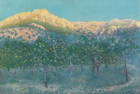 Citronniers à Marjorque  - William Degouve de Nuncques