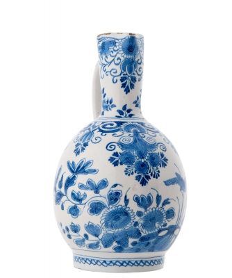 A Blue and White Jug in Dutch Delftware